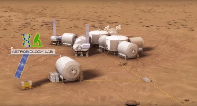NASA опубликовало видео о строительстве первой колонии на Марсе
