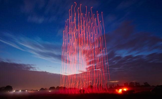 В США сотня дронов установила рекорд Гиннеса по кодичеству одновременно управляемых БПЛА