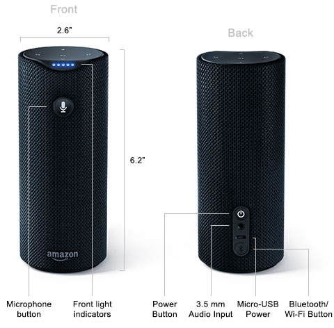 Amazon анонсировала умные колонки Tap и Dot