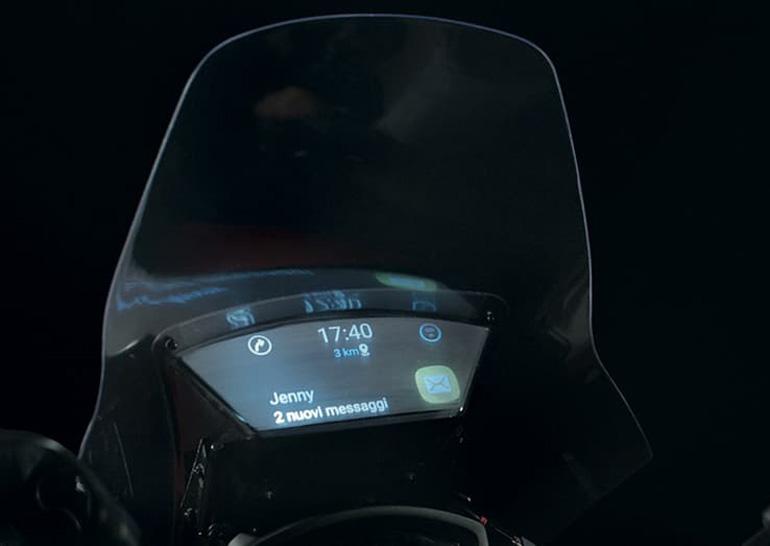 Samsung создала умное ветровое стекло для мотоциклов - Smart Windshield