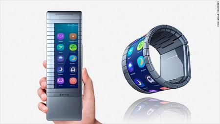 Китайский стартап Moxi выпустит гибкий смартфон, который можно будет обернуть вокруг запястья