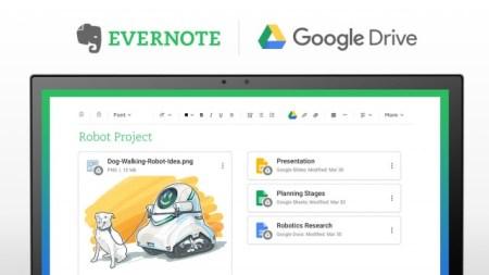 В Evernote появилась интеграция с Google Drive
