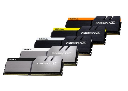 G.SKILL предлагает 5 цветовых комбинаций для модулей памяти Trident Z
