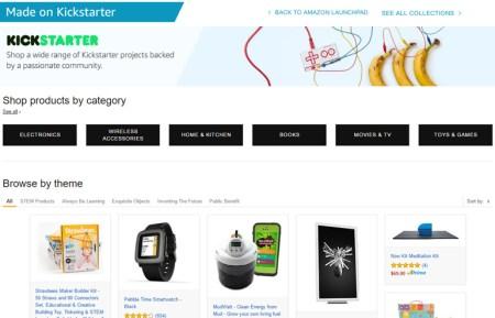 В магазине Amazon появился специализированный раздел для готовых проектов Kickstarter
