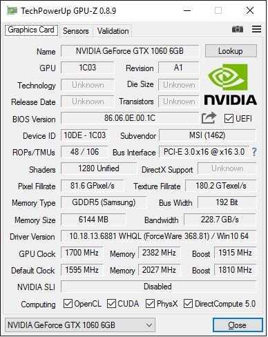 MSI_GeForce_GTX1060_GAMING_X_6G_GPU-Z_info-OC