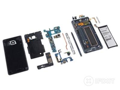 Специалисты iFixit разобрали смартфон Samsung Galaxy Note7 и оценили его ремонтопригодность