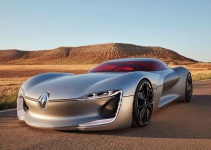 Renault Trezor — прототип футуристического спортивного электромобиля с откидывающейся «верхушкой» корпуса и системой рекуперации энергии