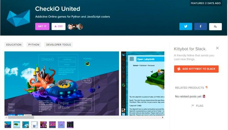 За последнюю неделю сразу три украинских проекта попали на главную Product Hunt — CallPage 2.0, Instant Translate for iMessage и CheckiO United