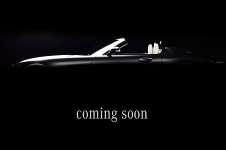 Mercedes дразнит открытой версией роскошного спортивного купе AMG GT, которую покажут на Парижском автосалоне