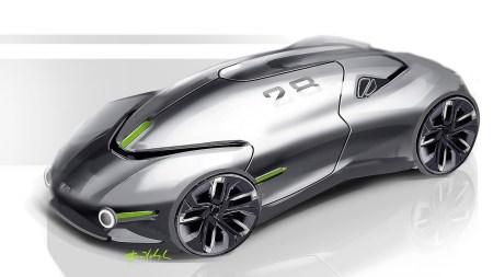 Украинский промышленный дизайнер разработал концепт беспилотного электромобиля будущего THX