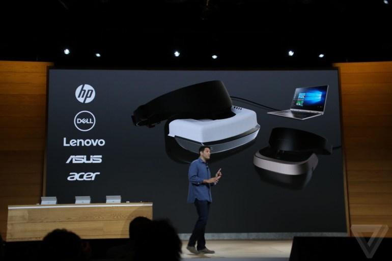 Microsoft анонсировала шлем виртуальной реальности для Windows 10 стоимостью $299