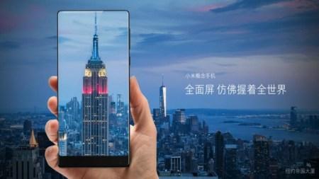 6,4-дюймовый экран смартфона Xiaomi Mix лишён рамок по трём сторонам и занимает почти всю переднюю панель (91,1%)