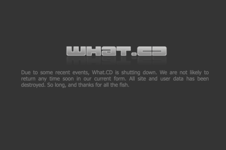 Крупнейший в мире музыкальный торрент-трекер What.cd объявил о прекращении работы