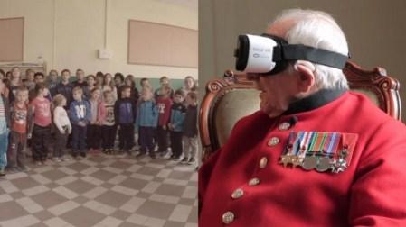 Ветеран Второй мировой посетил освобожденный им город с помощью очков виртуальной реальности Samsung Gear VR