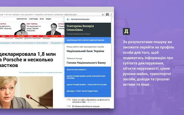 Украинцы создали Telegram-бота и Chrome-расширение для быстрого поиска деклараций чиновников