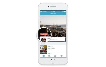 Twitter запускает новый формат видеотрансляций Periscope с углом обзора 360°