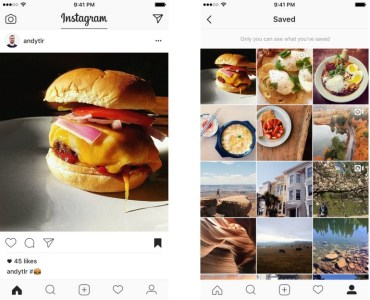 В мобильном Instagram появилась возможность добавлять чужие публикации к себе в закладки