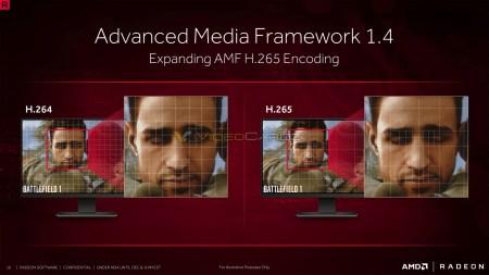 AMF 1.4 добавляет поддержку аппаратного сжатия H.265 в видеокарты AMD rx 4xx
