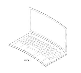 Забудьте об изогнутых мониторах, Intel запатентовала изогнутый ноутбук (с выпуклой клавиатурой)