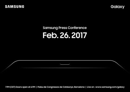 Презентация новинок Samsung на MWC 2017 состоится 26 февраля, вместо смартфона Galaxy S8 шоустоппером станет планшет Galaxy Tab S3