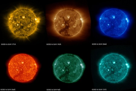Спутник GOES-16 передал первые снимки Солнца