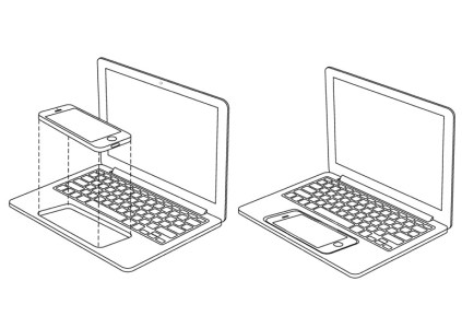 Apple запатентовала возможность интеграции iPhone или iPad в MacBook