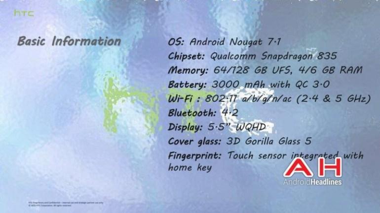 Смартфон HTC U с сенсорными гранями полностью рассекречен