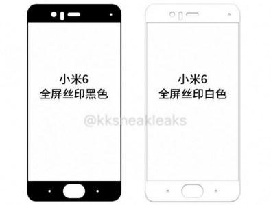 Новые фото Xiaomi Mi 6 демонстрируют вид смартфона спереди и сзади