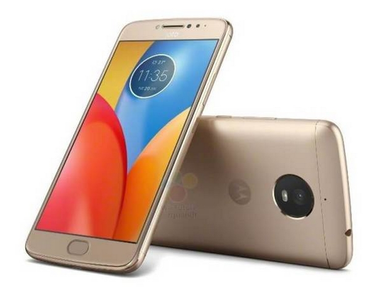 Published official images of Moto E4 Plus smartphone in Black and Gold colors