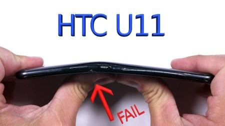 Смартфон HTC U11 с треском провалил испытание на изгиб