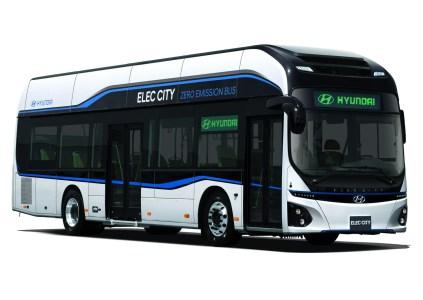 Hyundai представила электрический автобус Elec City с батареей на 256 кВтч и запасом хода 290 км, его массовое производство собираются начать уже в 2018 году