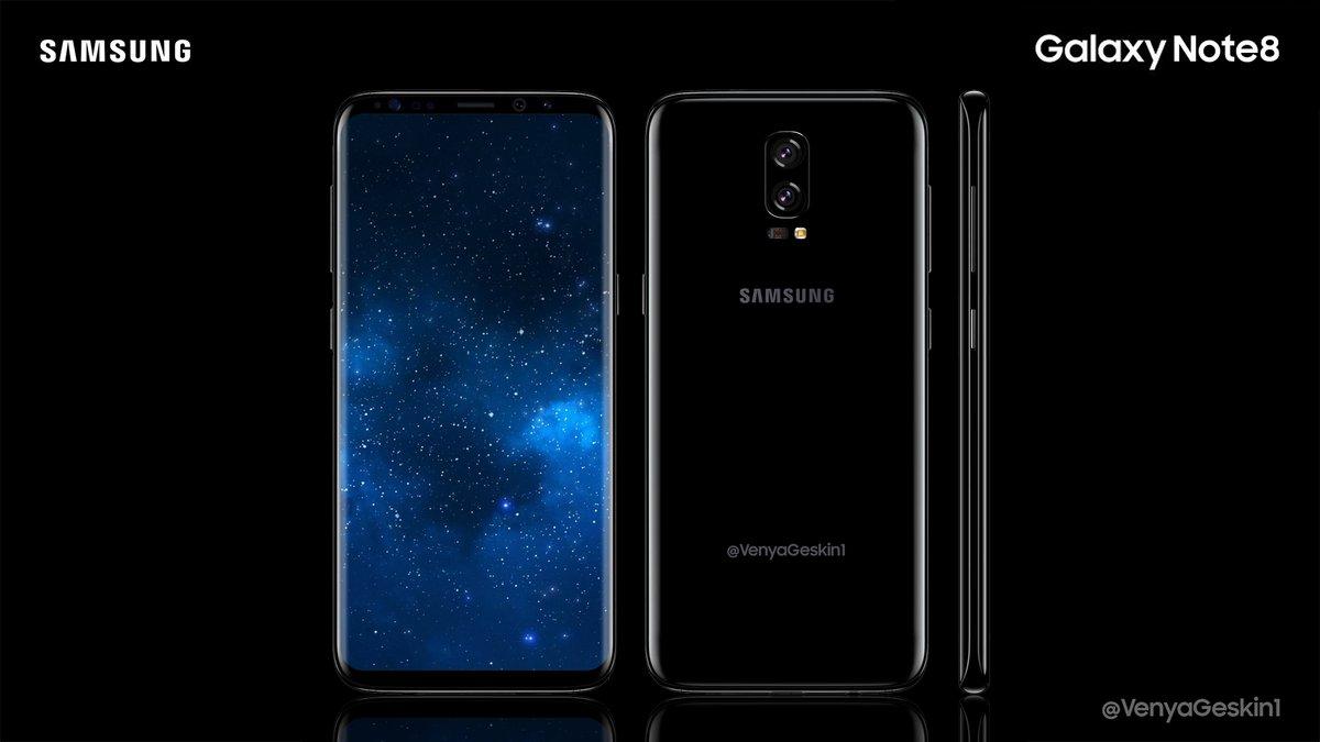 Смартфон Samsung Galaxy Note8 не получит встроенный в дисплей сканер отпечатков, но может стать первым устройством с SoC Snapdragon 836