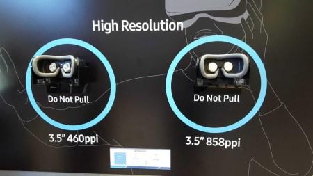 Samsung представила дисплей для гарнитур VR с плотностью 858 пикселей на дюйм