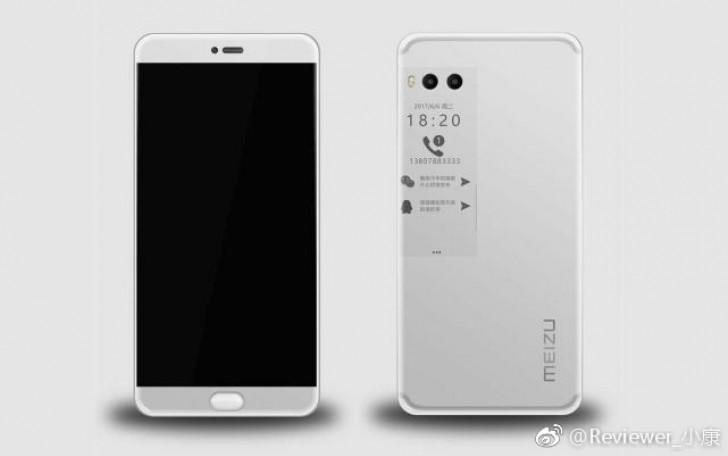 Живые фотографии смартфона Meizu Pro 7 свидетельствуют о наличии дополнительного дисплея и двойной камеры на задней панели