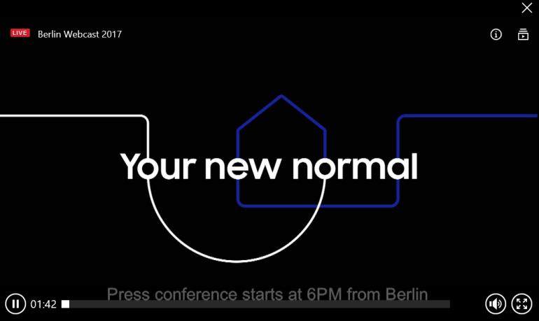 Прямая видеотрансляция пресс-конференции Samsung на IFA 2017 (завершено)