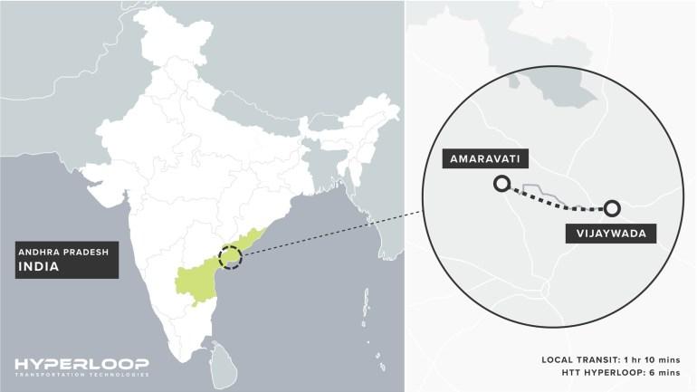 В Индии хотят построить транспортную систему Hyperloop протяжённостью 43,5 км