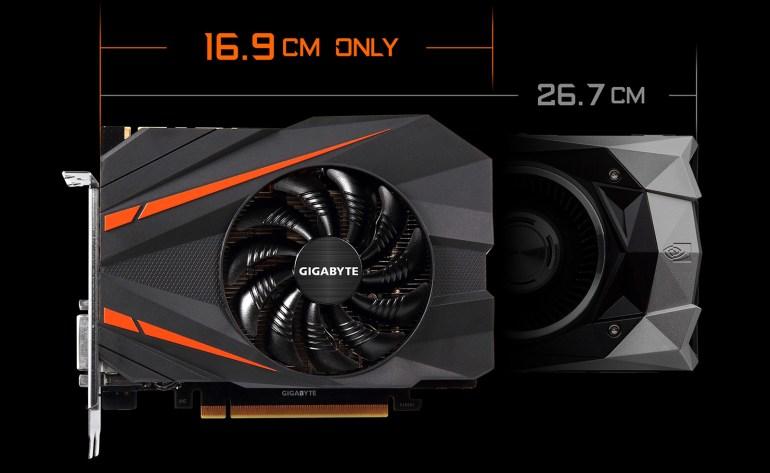 Gigabyte выпустила самую компактную версию видеокарты GeForce GTX 1080 для мини-ПК, ее длина составляет всего 169 мм