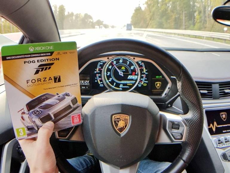 Геймер превратил личный Lamborghini Aventador в геймпад для Xbox One, чтобы поиграть в гараже в Forza Motorsport 7