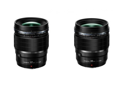 Olympus анонсировала объективы 17mm F1.2 и 45mm F1.2 для камер Micro Four-Thirds