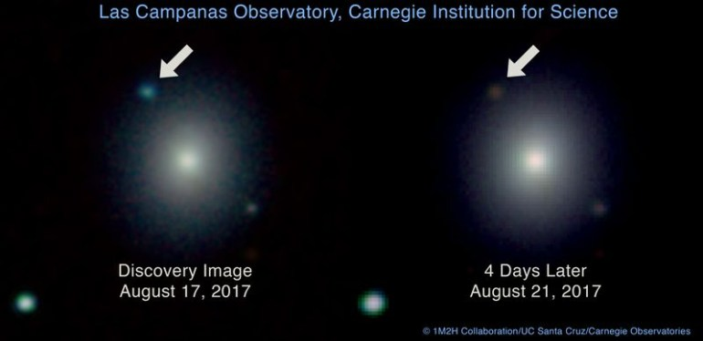 Астрономы впервые зафиксировали гравитационные волны от слияния нейтронных звезд