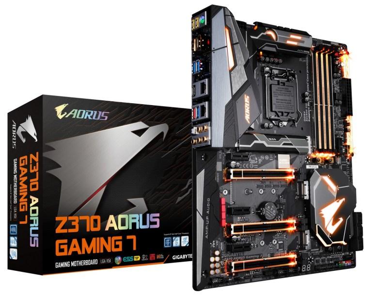 GIGABYTE анонсировала новые материнские платы AORUS Z370-ой серии, ориентированные на геймеров и моддеров