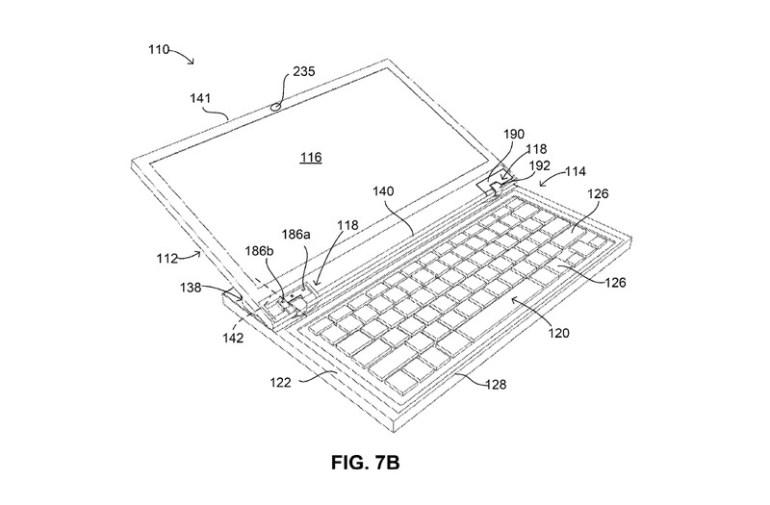 """Google запатентовала ноутбук с """"моторизованным"""" дисплеем, который умеет самостоятельно открываться, закрываться и подстраивать угол наклона под владельца"""