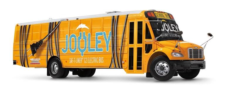 """Daimler представил электрический школьный автобус """"Jouley"""" для рынка США с батареей на 160 кВтч и запасом хода 160 км"""