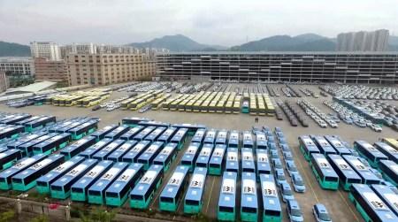 Китайский город Шэньчжэнь с населением 12 млн человек заменит все общественные автобусы на электробусы до конца 2017 года [видео]