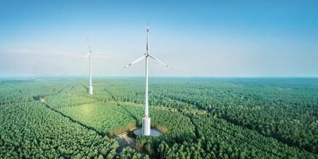 Высота построенного немцами Max Bögl Wind ветрогенератора составляет рекордные 264,5 м