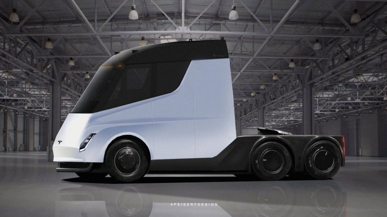 Tesla начала рассылать приглашения на презентацию электрогрузовика Semi на 16 ноября и опубликовала финальный тизер
