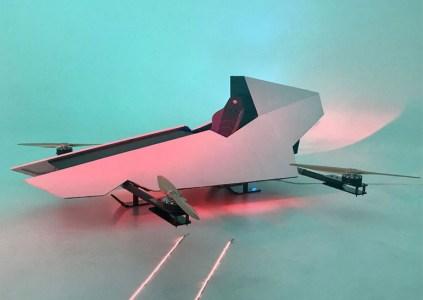 Стартап Alauda делает «первый в мире» гоночный летающий автомобиль, напоминающий аэроспидер из Star Wars