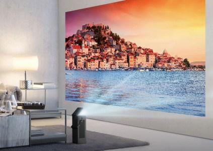 Проектор LG HU80KA поддерживает разрешение 4K, HDR-контент и может выводить изображение диагональю 150 дюймов
