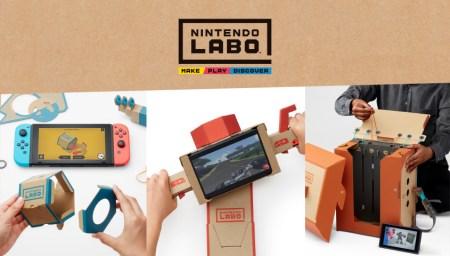 Nintendo представила детский картонный конструктор Labo, из которого можно собирать разнообразные интерактивные модели (для работы потребуется консоль Switch)