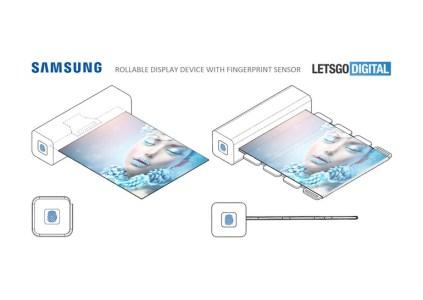 Samsung запатентовала устройство со сворачивающимся дисплеем и сканером отпечатков пальцев